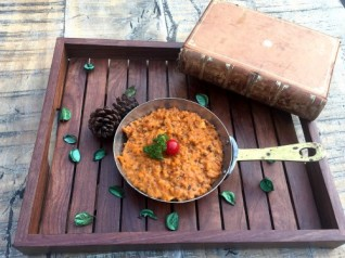 Risotto panner Dal makhani with crean and roastef garlic (V)